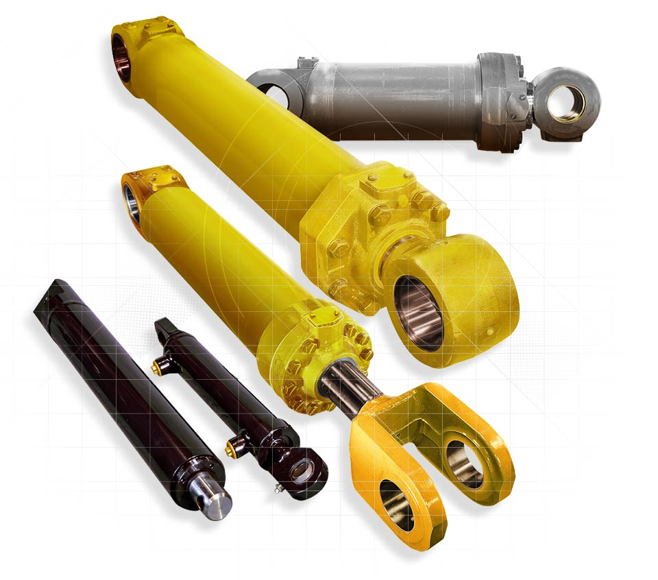 Photo of a Selection of Hydraulic Cylinders