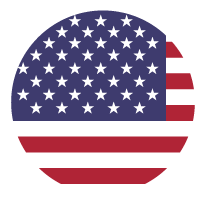 A circular United States of America flag
